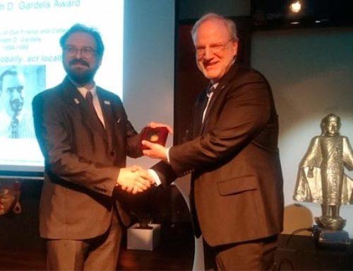 The OGC's 2018 Gardels Award was awarded to the WeObserve partner,Joan Masó, from CREAF.